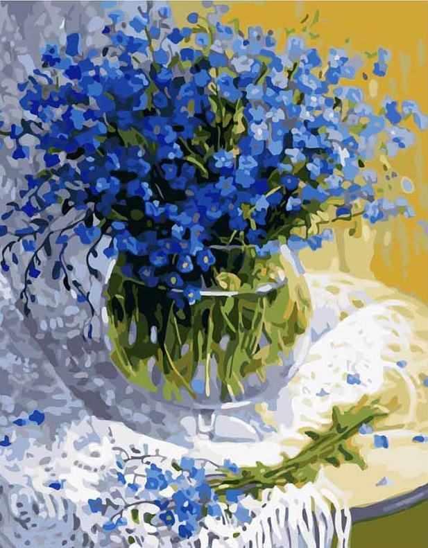 MG1069 Полевые цветы - раскраска (Menglei)