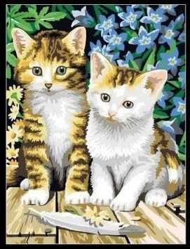MG181 Чудесные котята - раскраска (Menglei)