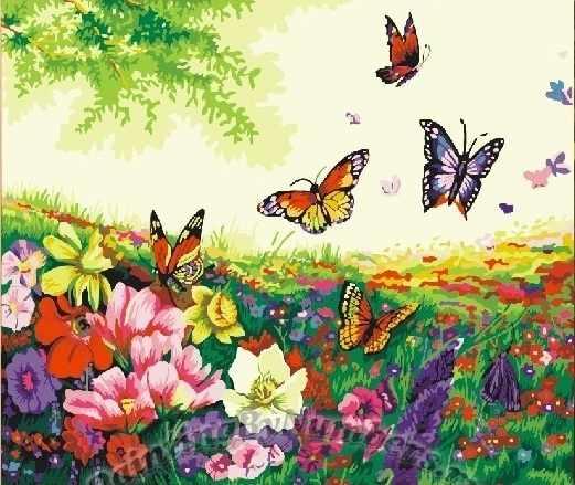 MG250 Танец бабочек - раскраска (Menglei)