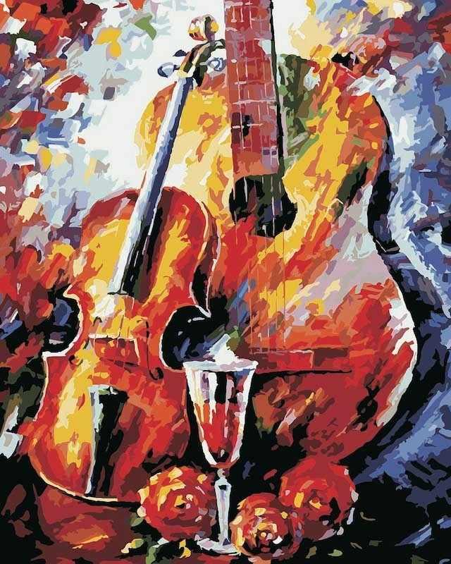MG348 Скрипка - раскраска (Menglei)