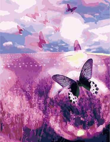 MG521 Бабочки - раскраска (Menglei)