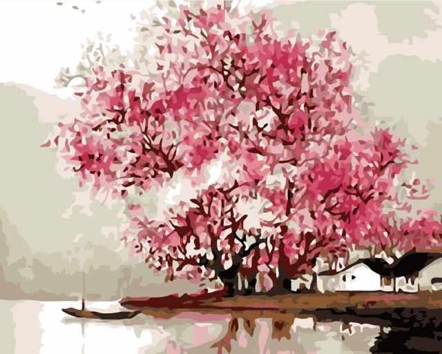 MG558 Розовое дерево - раскраска (Menglei)