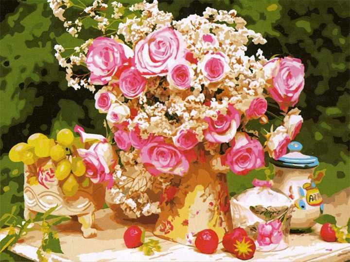 MMC008 В розовом цвете - раскраска (Menglei)