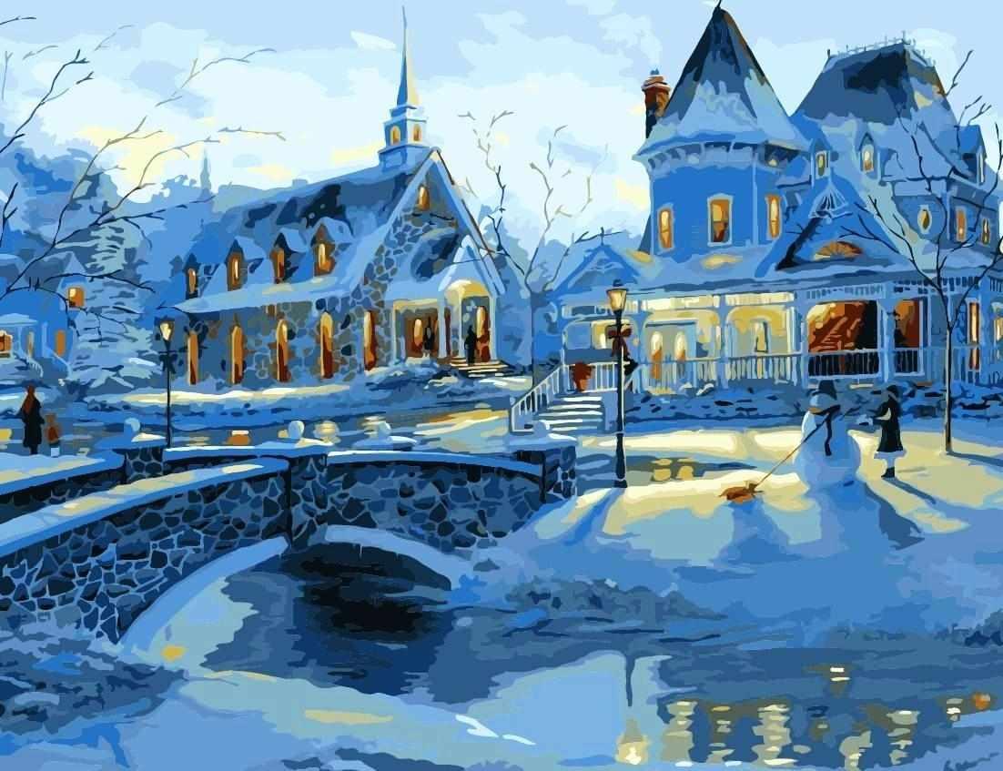 MMC012 Зимним вечером - раскраска (Menglei)