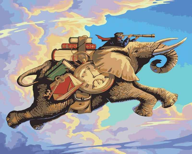 MMC013 Летающий слон - раскраска (Menglei)