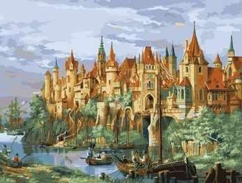 MMC046 Средневековый город - раскраска (Menglei)