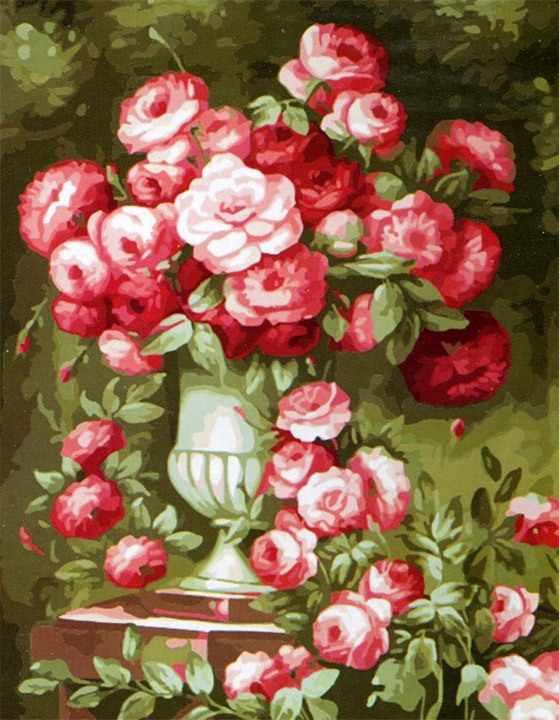 MMC055 Букет в саду - раскраска (Menglei)