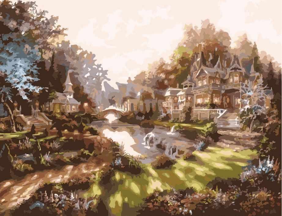 MMC063 Утро в волшебном городе - раскраска (Menglei)