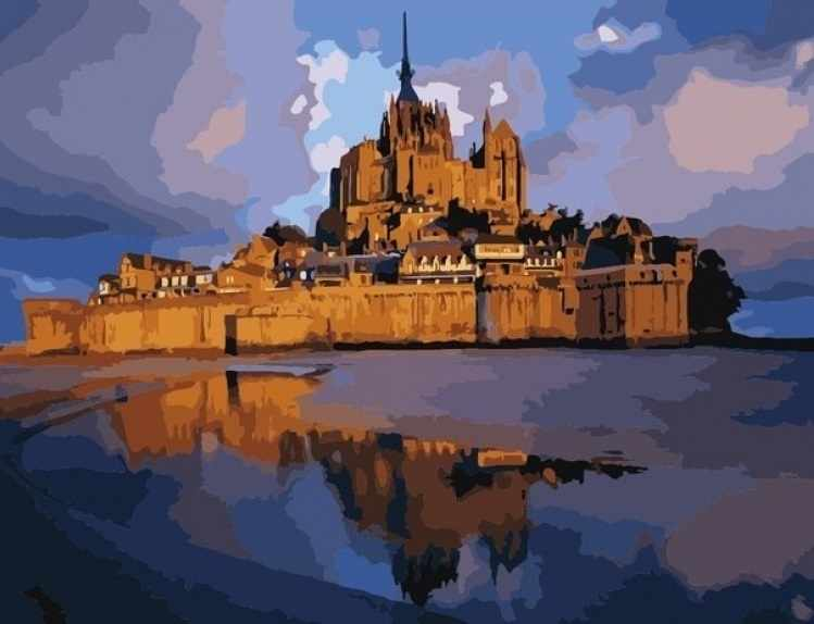 MMC079 Замок Сен Мишель - раскраска (Menglei)