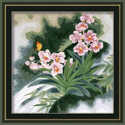 MP006 Розовые цветы - раскраска (Menglei)