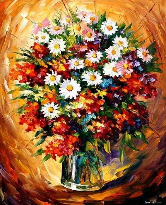 N-058 Цветы - мозаика Милато