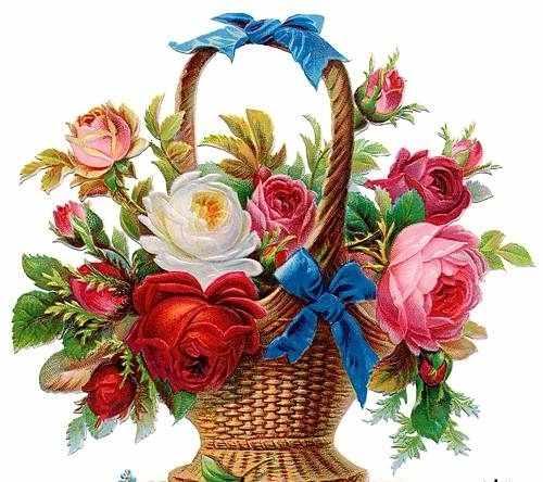 N-138 Розы в корзинке - мозаика Милато