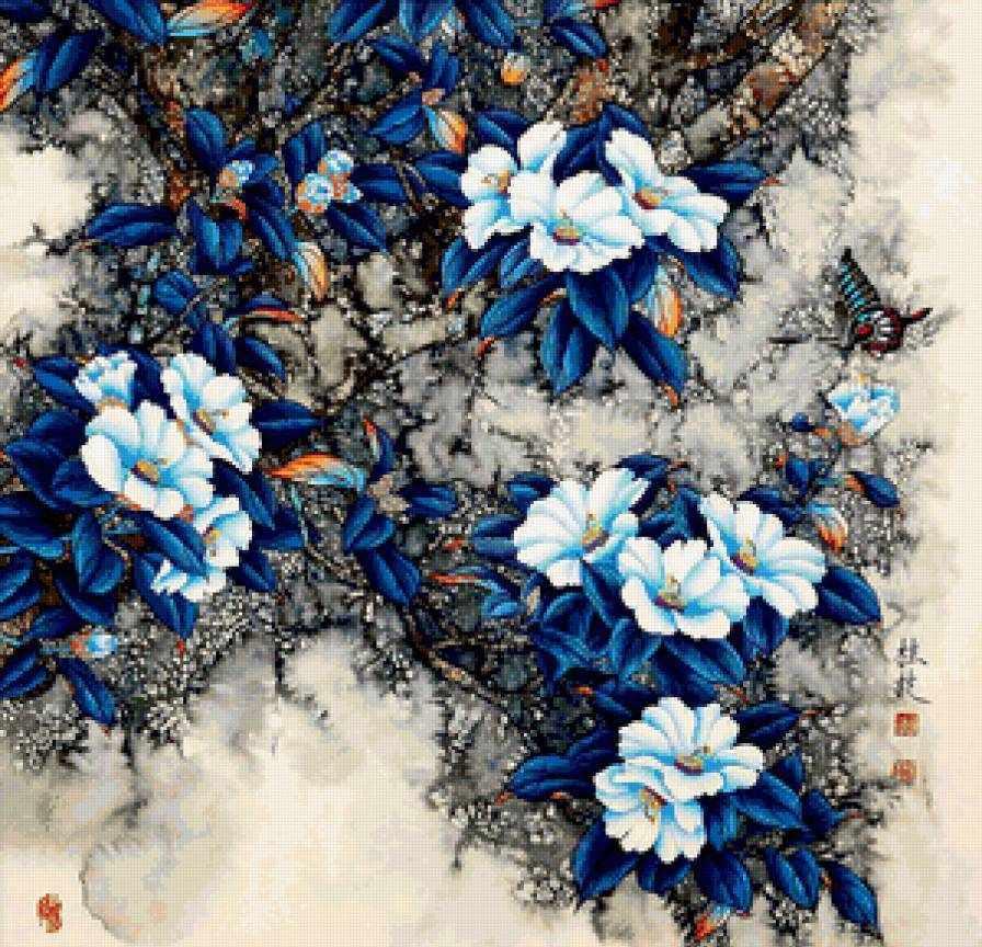N-140 Цветы - мозаика Милато