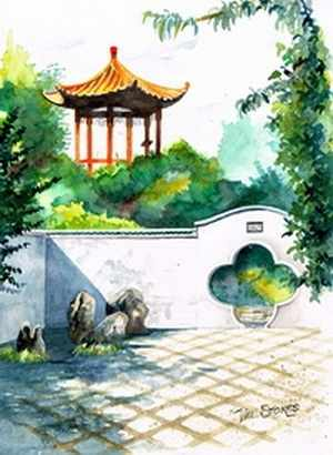 N-173 Китайский дворик - мозаика Милато
