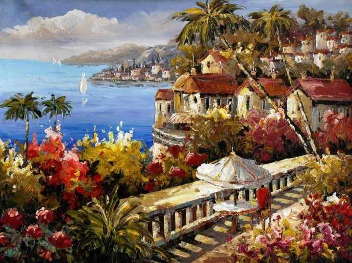 N-194 Вид на море  - мозаика Милато