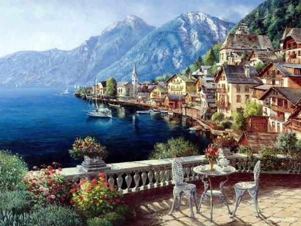 N-196 Терасса с видом на море  - мозаика Милато