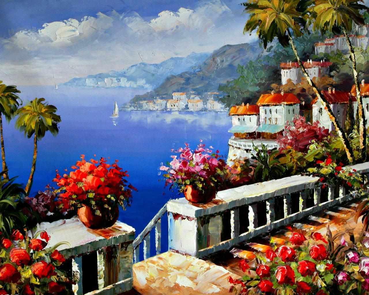 N-207 Вид на море  - мозаика Милато