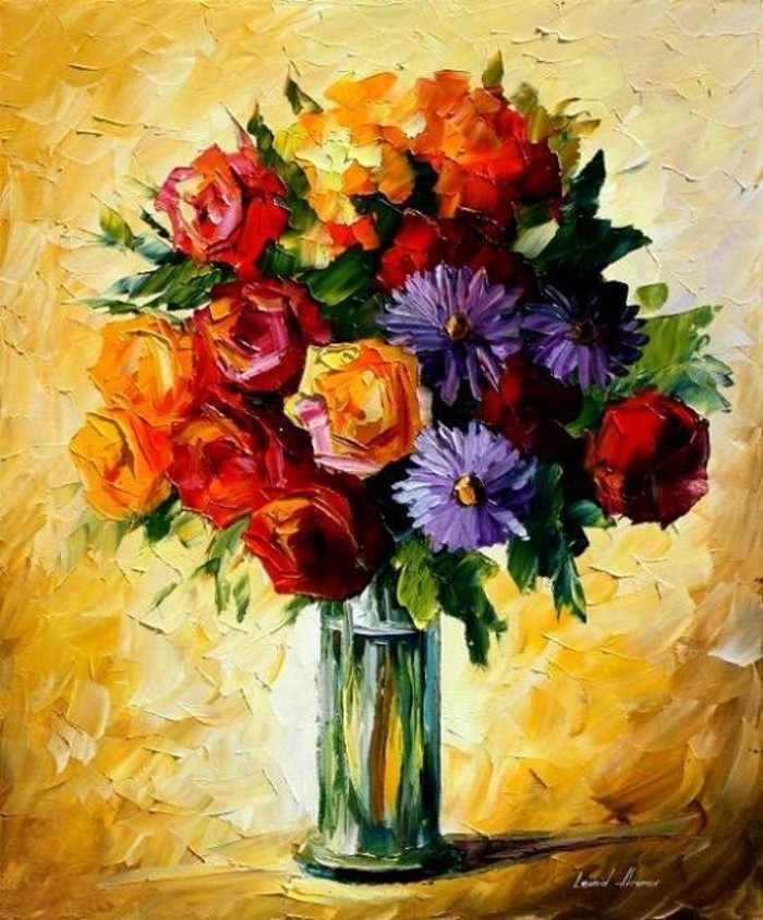 N-277 Цветы в вазе - мозаика Милато