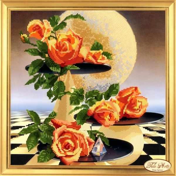 НГ-002 - Лунные розы - набор (Tela Artis)