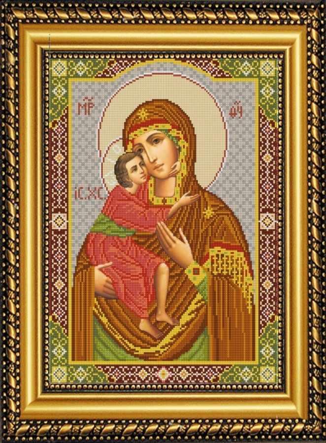 НИК 9248 Богородица Феодоровская - рисунок на ткани