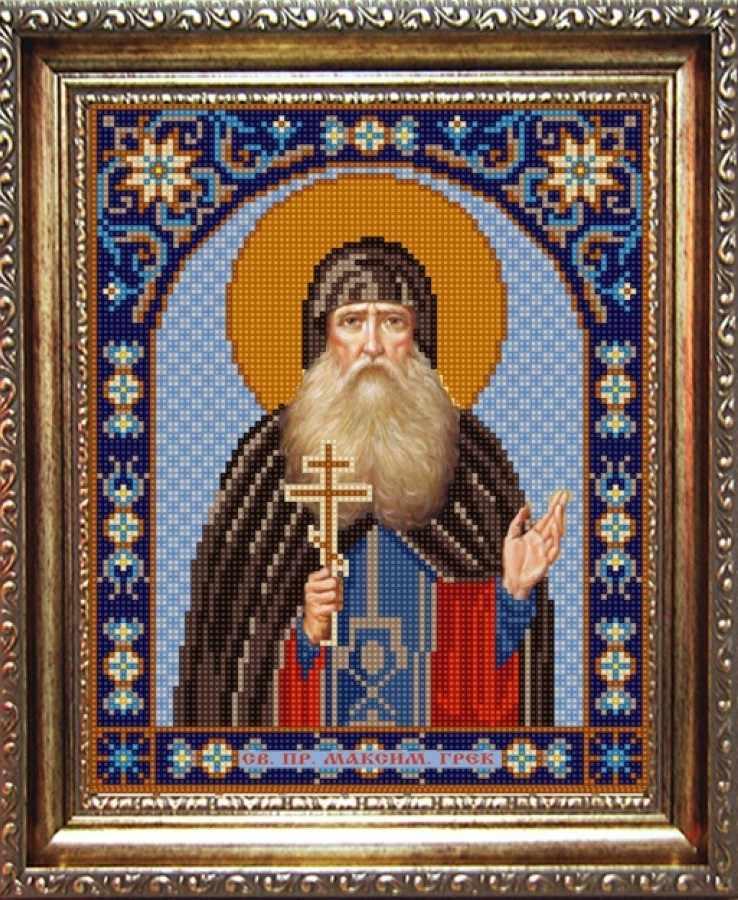 НИК 9318 Св. Максим - рисунок на ткани