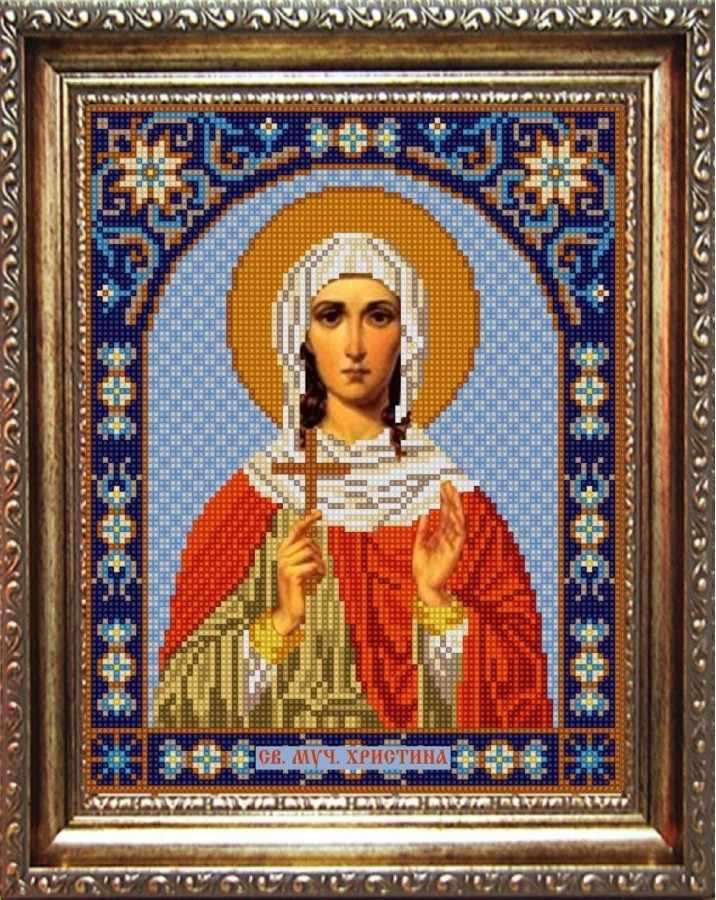 НИК 9366 Св. Христина - рисунок на ткани