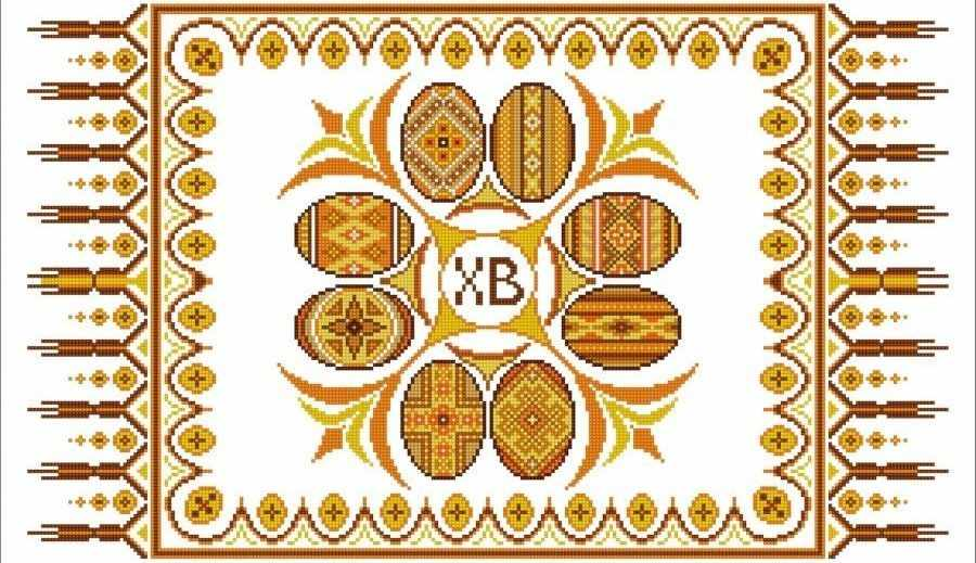 НИК 9408 Рушник пасхальный - рисунок на ткани