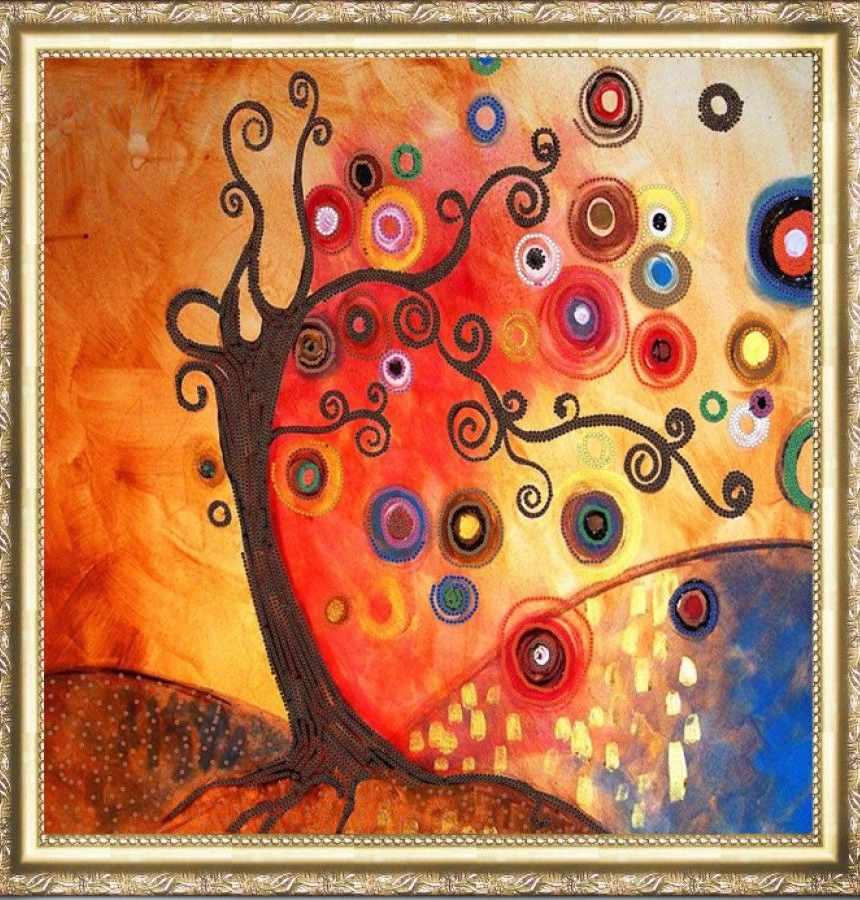 НИК 9450 Дерево - рисунок на ткани