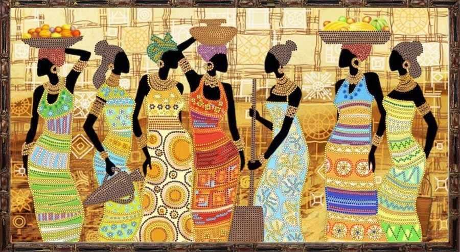 НИК 9454 Африканский колорит - рисунок на ткани