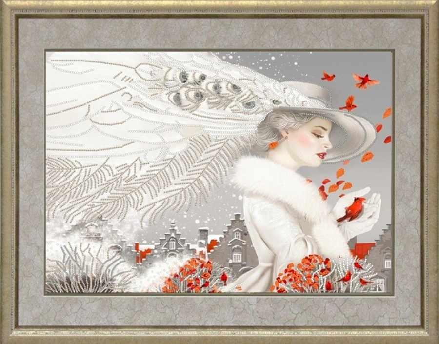 НИК 9457 Леди в белом - рисунок на ткани