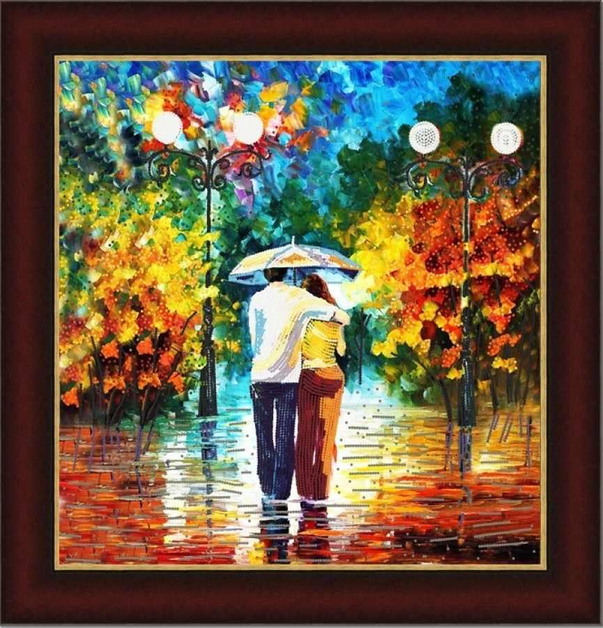 НИК 9472 Под дождем - рисунок на ткани