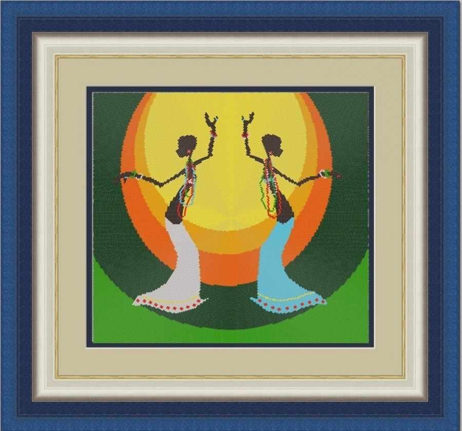 НИК 9511 Танец (круговая техника) - схема для вышивания