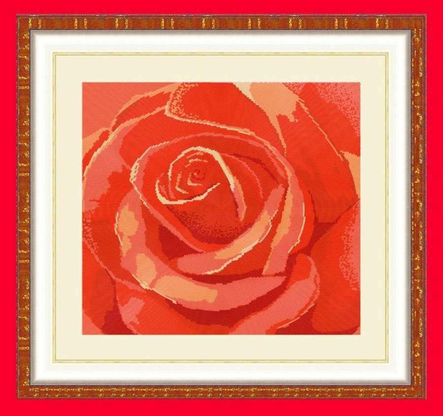 НИК 9512 Роза (круговая техника) - схема для вышивания