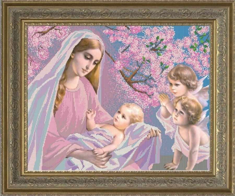 НИК 9649 Мадонна с младенцем - схема для вышивания
