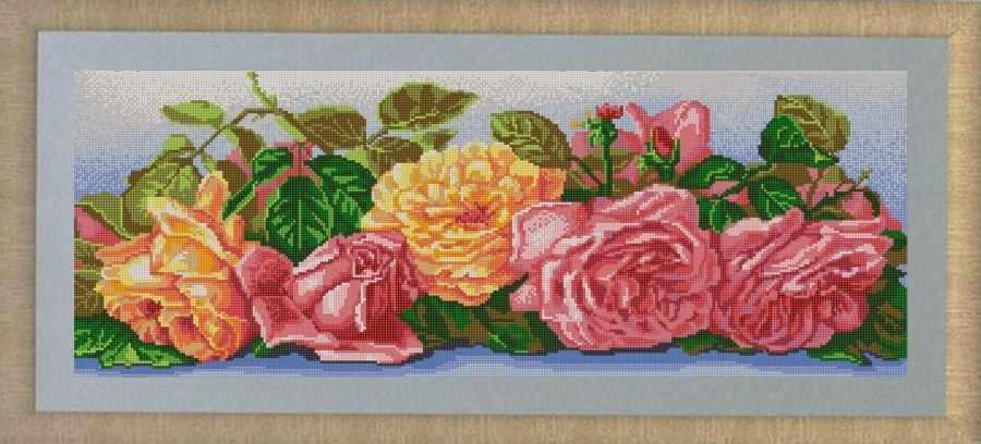 НИК 9651 Розы - схема для вышивания
