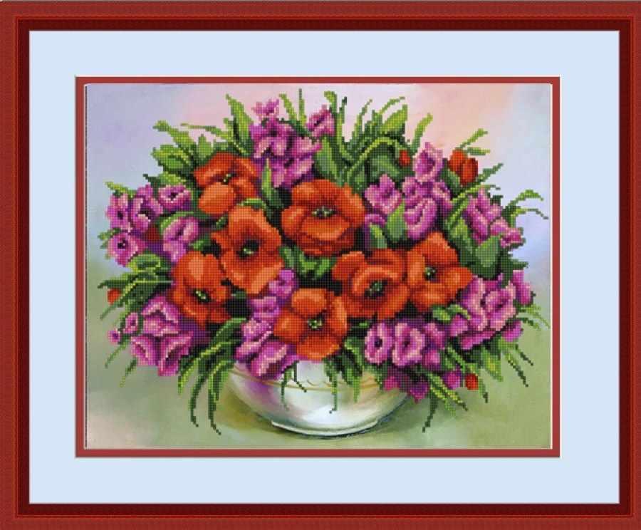 НИК 9661 Полевые цветы - схема для вышивания