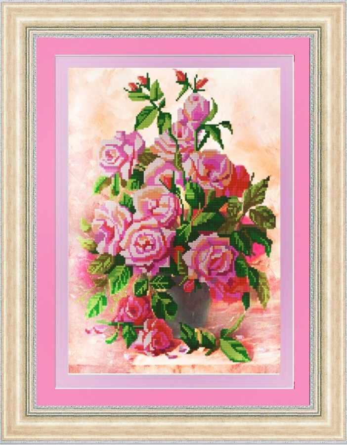НИК 9694 Розы в вазе - схема для вышивания