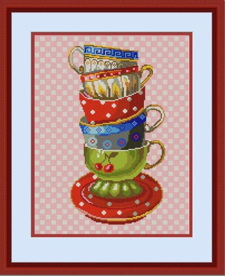 НИК 9714 Чашки - схема для вышивания