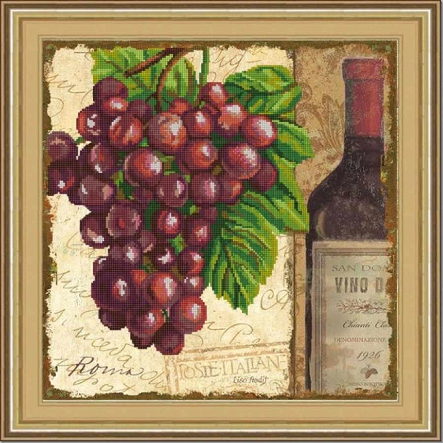 НИК 9799 Виноград. Винтаж - 1 - рисунок на ткани