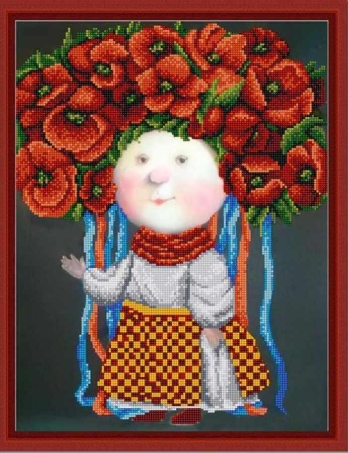 НИК 9803 Украиночка - рисунок на ткани