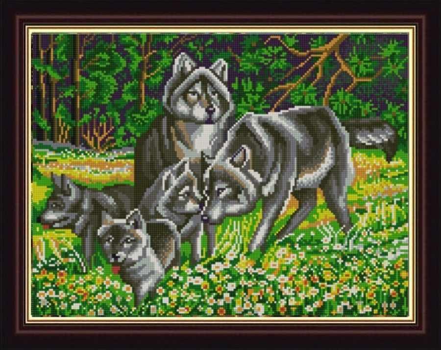 НИК 9838 Волчья семья - схема для вышивания