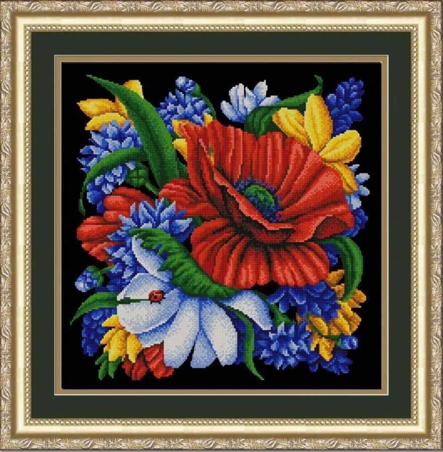НИК 9879 Цветы  - схема для вышивания
