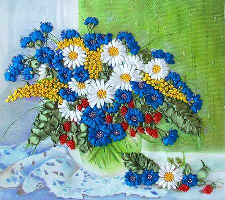 НЛ-3014 Полевые цветы на окне (Марiчка)
