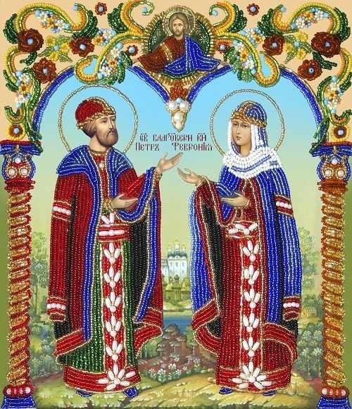 НВ002 Св. К. Петр и Св. К. Феврония (Из.Рук.)