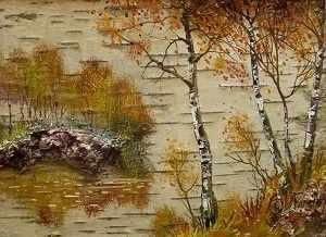 O-521 Осенние березы - мозаика Милато
