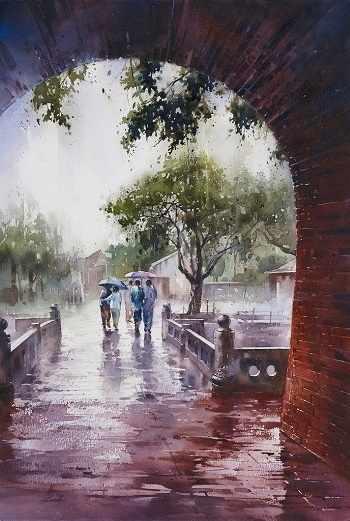 O-572 Осенний дождь - мозаика Милато