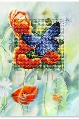 OR 6225 Бабочка и маки