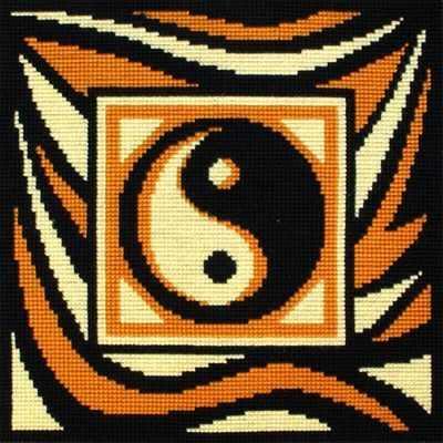 """ПД-0492-2 подушка """"Инь-янь""""(черно-коричневая)"""