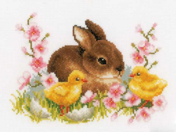 PN-0145421 Rabbit and Chicks (Vervaco)