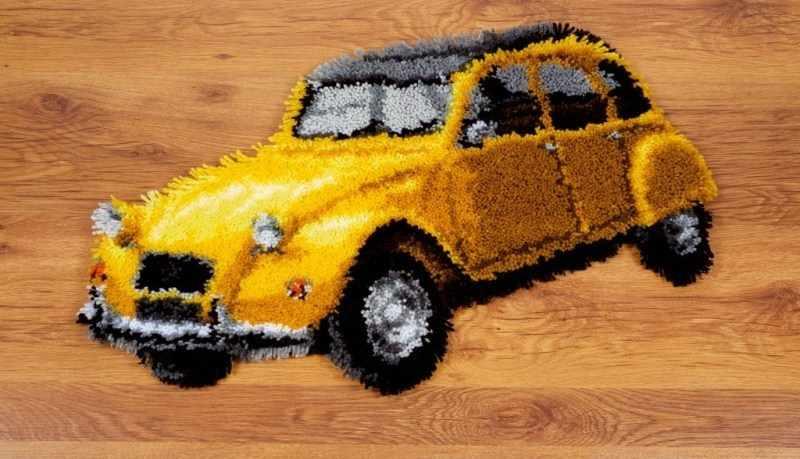 PN-0149512 Винтажное желтое авто (Vervaco)